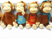 Wholesale 12 quot CURIOUS GEORGE PLUSH DOLL Dora the Explorer BOOTS MONKEY PLUSH STUFFED ANIMALTOYS for baby girls