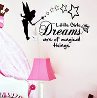 tinkerbell - Tinker Bell Cartoon Princess Wall Stickers for Girls Kids Room Tinkerbell Girls Dreams Decorative Wall Decals Home Decoration WallPaper Art