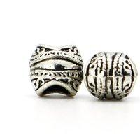 Cheap 1pcs Silver Bead Charm European Black Hole Fashion Carp mouth Bead DIY Fit Pandora Bracelets Necklace