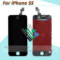 Cheap 1 PCS for iPhone 5S Touch Screen digitizer LCD Display Complete Assembly for iPhone5s LCD Replacement with Open Tools
