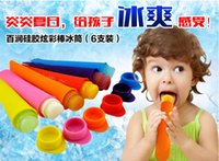 Cheap Wholesale DIY Silicone Ice Lolly Pop Lollies Maker Jelly Moulds Jelly Molds Popsicle mold Ice Cream Tubs New Design