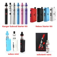 starter - 100 Original Kanger Subox Mini Starter Kit Subvod Starter Kit Nebox Starter Kit Subtank Nano Starter kit VS Sigelei Aspire