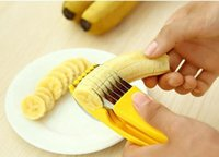 Wholesale Kitchen Gadgets Banana Slicer Cutter Household Gadgets for Kitchen Fruit Vegetable Tools New