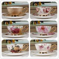 Expédition café gros-gratuit tasse / mode Tasse de café de porcelaine tasse / fleur tasse de thé / lait / amoureux