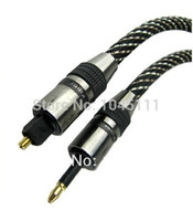 audio toslink cable - High Quality OD mm Digital Optical Audio TosLink to mm Mini TosLink Optical Fiber Cable Male Male