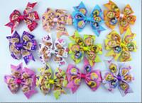 character ribbon - 8 off quot princess Hair Clips Boutique Bows hair Accessories Ribbon hair bows clips Children s hair accessories Manual bow