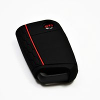 acura keyless - Interior Accessories Key Rings Black Red Line Key Keyless Entry Remote Fob Silicone Key Cover amp GTI Emblem FIT MK7 Golf GTI