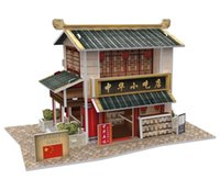 Wholesale 3D Puzzles World Style Series Architecture Styles Chinese Classical Architecture Puzzles Best Gift For Kids EMS DHL