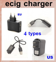 ac adapter cables - USB Wall Charger US EU Plug AC Power EGO usb charger Adapter ego wall charger long usb charger short cable charging for ego t evod FJH02