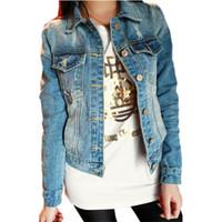 Cheap Plus Size Jean Jackets For Women | Free Shipping Plus Size