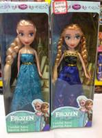 Wholesale 2014 new movie INCH Popular frozen DIY vinly elsa anna girl dolls toys girl s gift
