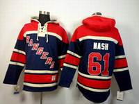 Wholesale Rangers Hockey Hoodies Newest Rick Nash Sweater Navy Blue Pullover Hooded Sweatshirt Winter Ice Hockey Jerseys Brand Outerwear for Men