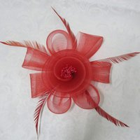 tea party hats - Cheap Vintage Hair Accessories Feather Organza Mini Fascinator Hats Decoration For Women Bridesmaid Wedding Tea Party Halloween Christmas