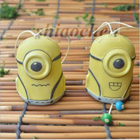 antique yard art - Minion Ceramic jewelry Wind Chime despicable me DIY Craft Handicraft Yard Garden Outdoor Living Wind Chimes creative Car accessories A44