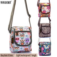 bag patchwork pattern - ViViSecret Vintage Cross Body Bags Cartoon Owl Pattern Cross Body Travel Bag Nylon Owl Cross Body Bags