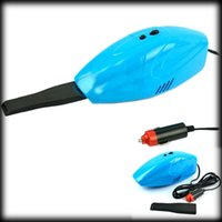 Wholesale by dhl or ems Super Suction Mini DC V High Power Wet and Dry Portable Car Vacuum Cleaner blue Color