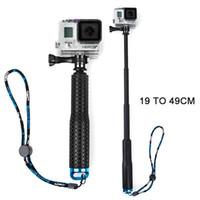 Wholesale Go Pro Accessories Self pole Monopod for GoPro Hero Aluminum alloy Handheld Extendable Pole Monopod with Screw