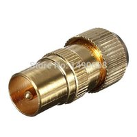 Cheap Free Shipping New Gold Plated Male TV Aerial Connector - RF Coax Cable Plug Freeview Coaxial New