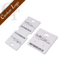 Wholesale custom customized logo brand name printing earring necklace display cards holder printed jewelry tags OEM earring tags