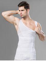 Wholesale Men s Abdomen Corset Vest Men s Fitness Vest The Strengthen Waist Abdomen White