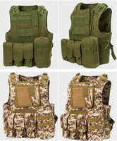 army camo vest - Fall Multi Colors Army Military Hunting Tactical Airsoft Paintball Camo Vest Molle Combat Assault Vest for Wargame Outdoor Sports