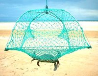 Wholesale Fully Collapsible Crab Net trap pot for crayfish crawfish Yabbies fresh water lobsters cherabin with Stainless Steel Frame