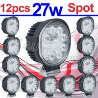 Wholesale 12X IP67 W LED work Spot Lamp Light Truck Trailer Off Road WD X4 Boat Pencil Round shape
