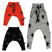 Wholesale 2016 Spring fashion Boy harem pants Children Kids lovely star print loose leisure harem pants T