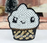 baby biker vest - 6 x cm Cake Sequins iron on patches cloth biker vest embroidered Badge kids baby patch sewing supplies accessories
