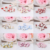 Cheap 200pcs lot Wholesale Brand New Ceramic Loose Beads Chinese Style Pendant Beads For Bracelet Necklace DIY Making Chain Charms Jewelry QCK