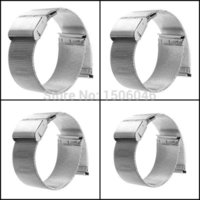 Wholesale New Silver mm mm mm mm Stainless Steel Watch Mesh Bracelets Straps Replacement Band