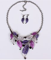 autumn leaves jewelry - 2015 early autumn fashion women jewelry retro colored leaves drip necklace