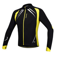 Wholesale SANTIC Autumn and Winter Cycling Clothing Men Women Wear Riding Fleece Thermal Jersey Bicycle Bike Wind Coat Long Sleeve Jacket Y1367