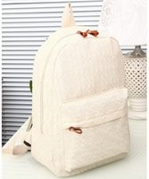 canvas backpacks - 2015 fashion women lace casual backpack canvas students backpacks WZ465