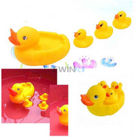 bath ducky - Hot Selling SET Cute Bath Ducky Baby Small Yellow Ducks Swimming Bath Squeezed Dabbling Toy Gift