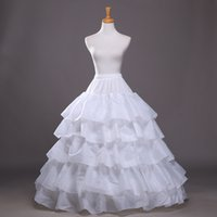hoop skirts - High Quality Stretchable Waist Ball Gown Bridal Crinoline Petticoat Skirt Hoops Petticoats For Wedding Accessories