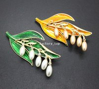 wheat quality - 2014new arrival brand fashion gold wheat stalks rhinestone pearl brooches for women top quality colors brooches