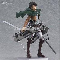 attack black - Attack on Titan Shingeki no Kyojin Captain Levi Figma Model Toy Action Figure Loose