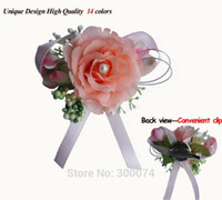 vip - Boutonniere Men Silk Rose For Wedding Party or Prom Decorative Flowers Wreaths Groomsman Bridegroom or VIP Flower Corsage