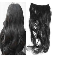clip in one piece extensions - 2014 New Arrival Lady Girl Curly Wavy Clip in on Hair Extension One Piece Clips New Whloesale