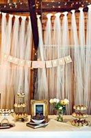 beach chairs - Beach Wedding Decorations Tulle Fabric Wedding Supplies Sheer m Width And cm Length DIY Backdrops Chair Sahes Or Table Cloth