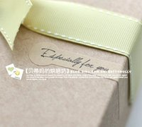 Wholesale FKT008 beautiful Cayin quot Especially for you quot sealing tag baking package cake box decoration x7 cm