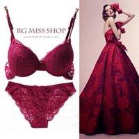 Wholesale Sexy bras set underwear fashion women lace push up bras sheer gauze lace briefs pants gifts