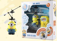 toy rc aircraft - HHA73 SET Mini RC Helicopter Despicable Me Sensor Flying Minion Shatter Resistant Remote Control Aircraft RC Helicopter Kids Toys