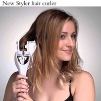 Wholesale NEW Magic Pro Tulip Deluxe Auto Hair Curler LCD Display Ceramics Automatic Curlers Rotating Rizador Pelo Hair Styler