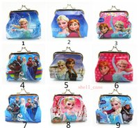 Purse bag button - Girls D Cartoon Frozen Coin Purse with Iron Button Anna Elsa Olaf Shell Bag Wallet Purses Children Child Gifts For Holidays Christmas Gift