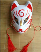 fox mask face paint - Hand painted Fox Mask Endulge Japanese PVC Mask Full Face Halloween Masquerade Party Masks