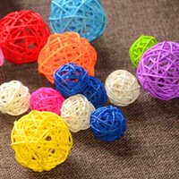 airlines photos - 5cm Rattan Ball Wedding Decoration Holiday Event Party Supplies DIY Handmade Ball Hollow Out Ornament Craft Ball Mix Color Available