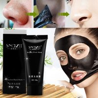 Wholesale SNAZII Deep Cleansing Black mud Facial face mask Remove blackhead facial mask strawberry nose Acne remover Face care PC