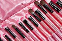 Wholesale Hot sale makeup brush kit cosmetic brush set goat hair easy portable with Leather Case DHL set